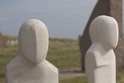 Skulpturer ved mindeparken for Jyllandsslaget